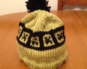 Creeper Hat hand knit