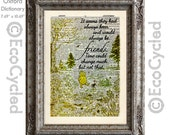 Winnie the Pooh and Piglet Quote 16 Always Friends Vintage Upcycled Dictionary Art Print Book Art Print Classic Pooh Nursery book lover gift