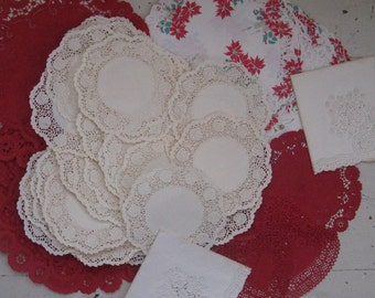 lacy paper doilies valentine crafts christmas lace paper napkins 101 assorted red and cream