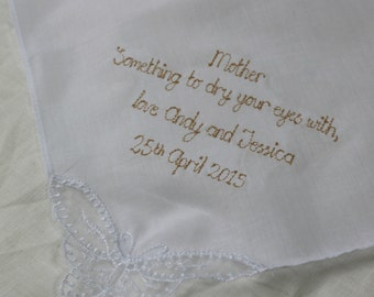 Something to dry your eyes - handkerchief wedding favour