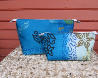 Reclaimed Sari Zippered Pouches