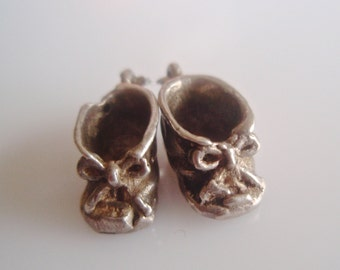 Sterling Silver Baby Bootees Charm