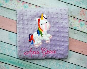 Unicorn Lovey Blanket   FREE PERSONALIZATION