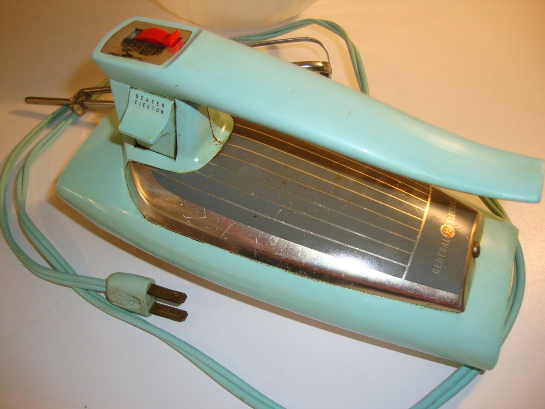 Vintage aqua mixer general electric beater 30m47 for General electric mixer vintage