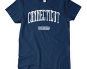 Women's Connecticut Represent T-shirt - S M L XL 2x - Ladies Connecticut Tee - 4 Colors