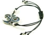 Orgone Energy Shamballa Style Bracelet - Om Symbol Friendship Bracelet - Choose Your Stone/Color - Natural Gemstones - Artisan Jewelry
