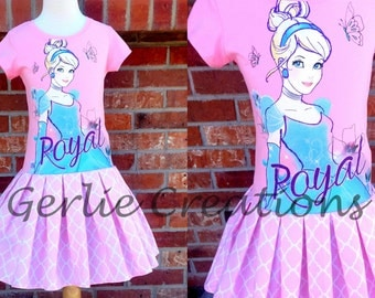 Girls Cinderella Dress, Girls Dress, Cinderella, Princess Dress, Pink Blue Dress, Cinderella Girls Dress -  3 Left M 7/8 L 10/12
