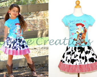 CLEARANCE SALE Girls Jessie Dress, Toy Story Jessie, Girls Dress, Toy Story Dress   - 2 Left XS 4
