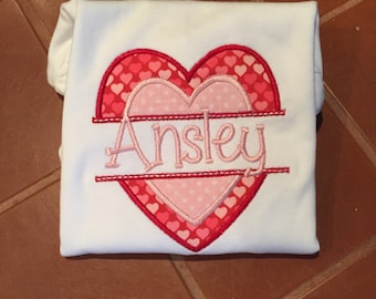 Girls Valentines Day shirt FREE PERSONALIZATION