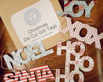 Christmas Word Gift Tags (Pack of 5)