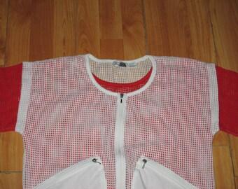 Vintage 1980s Avant Garde Mesh Jacket Shirt