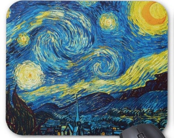 Vincent Van Gogh Starry Night Mouse Pad Mousepad