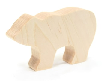 Polar Bear Toy toy bear, wild animal toy, natural wood toy, waldorf toy, toy for boys, wooden animal, wooden polar bear, bear toy