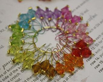 30 Knitting stitch markers bicone basics