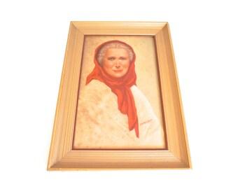 Old Woman of Capri Framed Print - Floyd Jones Vintage