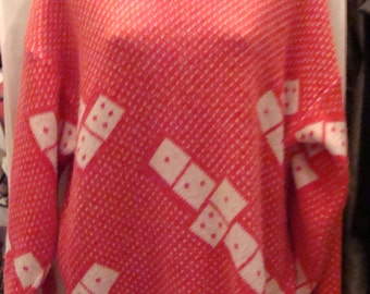 SALE Amazing Vintage Dominoes Jumper