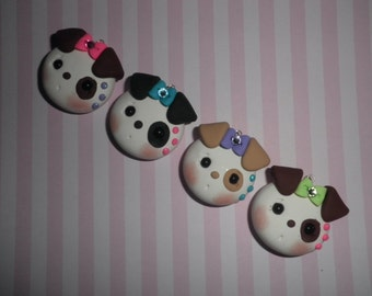 Cute Polymer Clay Puppy/Dog Pendant (Listing for one only)