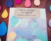 Colorful Raindrop Felt Confetti in Lovely Packaging // Perfect embellishment for your crafts