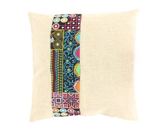 Patchwork Cushion Cover With Embroidered Fabric (CS6427.5)