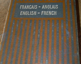 1920's Small Larousse English French  Dictionary