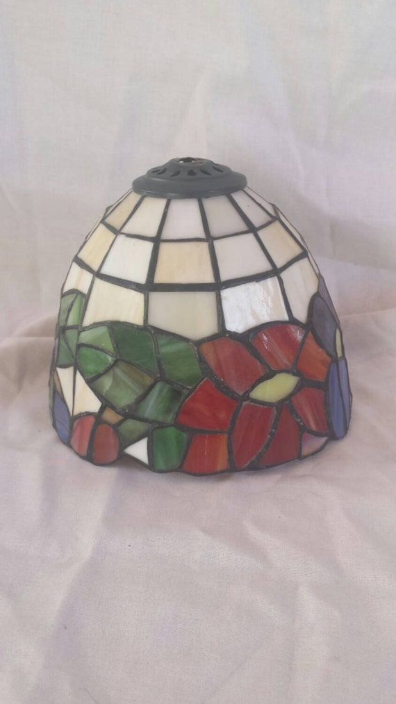 tiffany look stained glass lamp shade. Black Bedroom Furniture Sets. Home Design Ideas