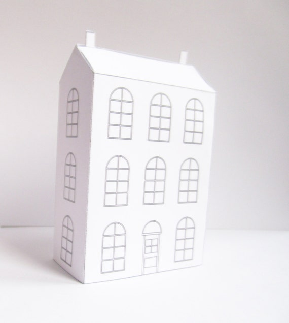 Diy Paper House Ready Design Template To Print Cute