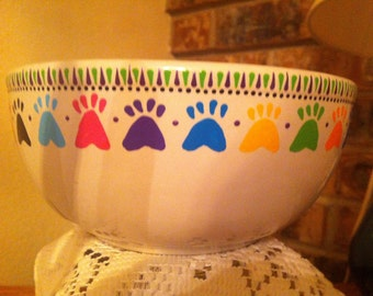 Cute Hand Painted Pet Bowl