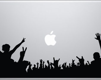 Concert Crowd Decal for Macbooks, iPads, Laptops and Vehicles