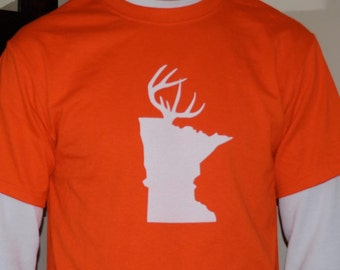 """Minnesota """"Deer Antler"""" T Shirt"""