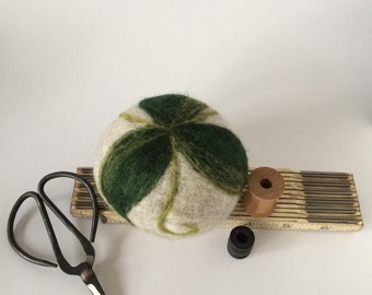 Pincushion - Ultimate Pin Cushion for Quilters - needle felted wool