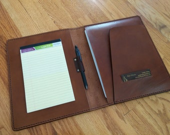 Lefty Leather ipad Notebook Genuine Leather Handmade - Brown