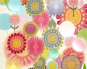 Hand drawn Flowers, Flower clipart, Painted Clipart, Watercolor Clipart, Instant download,