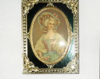 Vintage Victorian Ladies Wall Plaques Set of Two Vintage Wall Plaques