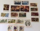 Used postage stamps - Bicenntenial Commemoratives - Stamp collection - paper ephemera
