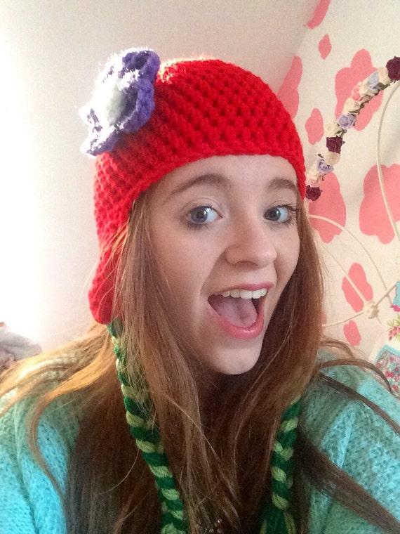 Crochet Ariel The little Mermaid Inspired Beanie/Hat