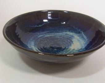 Ramen or Noodle bowl. With blue beige  glaze.