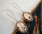 Crow Earrings in Silver - Raven Earrings - Blackbird - Magpie