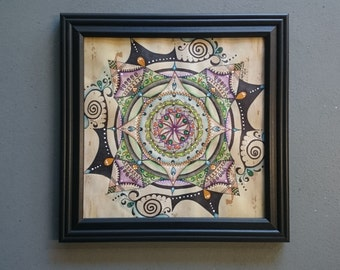 Mandala - Original Artwork - Framed