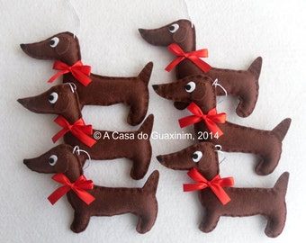 Christmas ornaments - Dachshunds - Set of 6