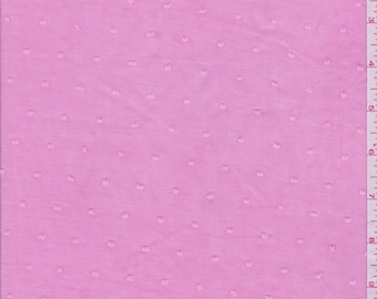 "58"" Pink Dotted Swiss Lawn by the  yard"