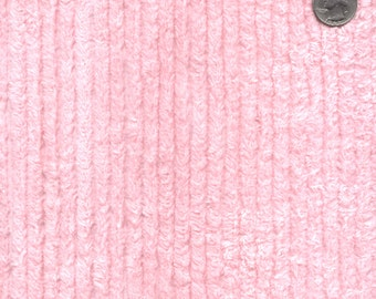 "56"" Wide Cotton Chenille Pink By the Yard"
