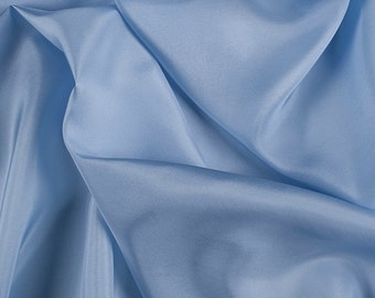 "45"" Wide 100% Silk Crepe de Chine Sky Blue by the Yard"