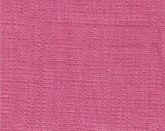 Coral Pink Medium Weight Linen Fabric-15 yard bolt