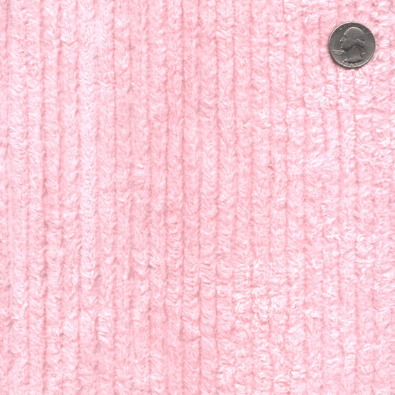 56 Wide Cotton Chenille Pink By The Yard