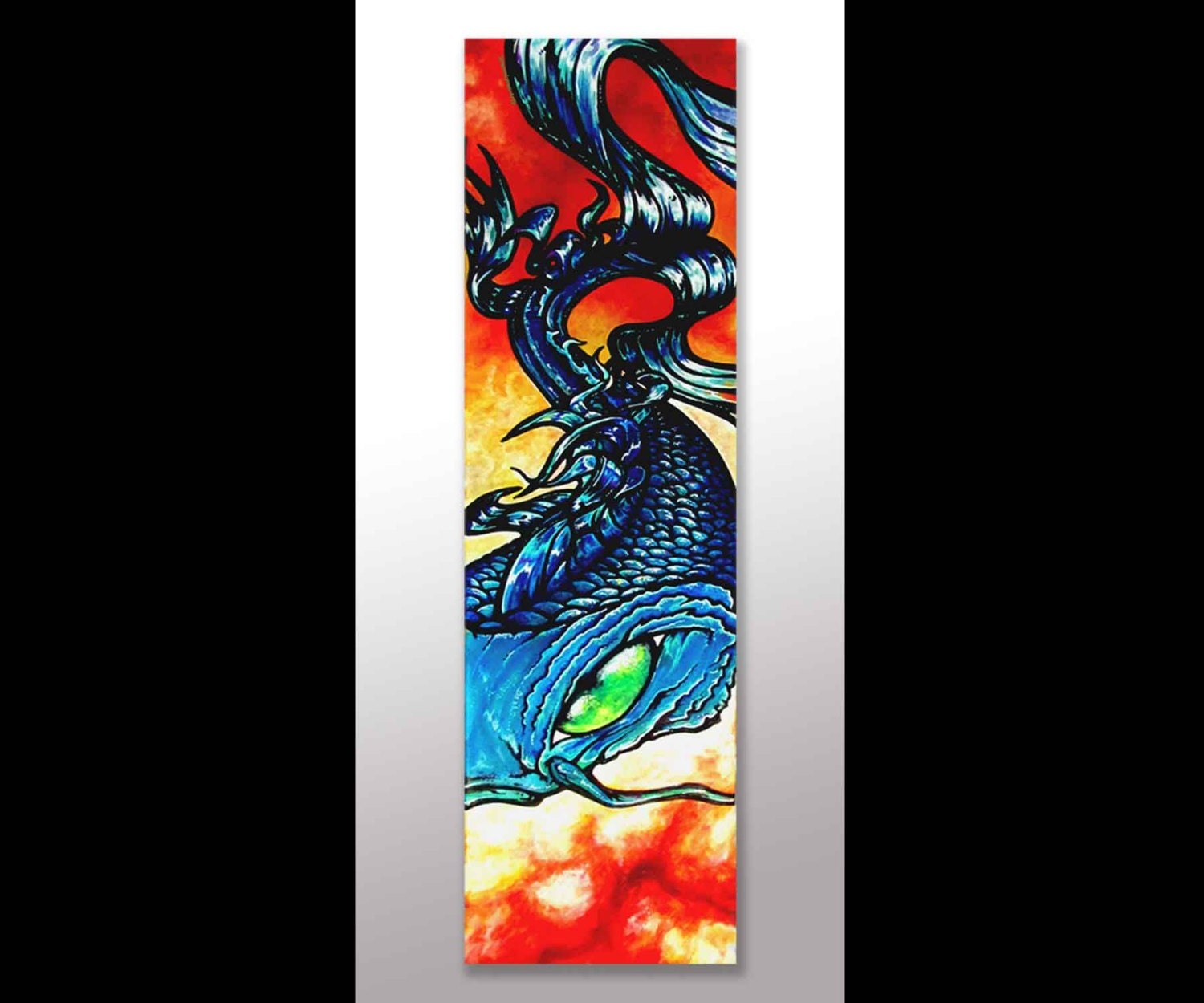 Koi fish painting koi fish art japanese art canvas by for Koi artwork on canvas