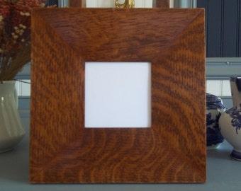 """Arts & Crafts Mission Quarter Sawn Oak 3"""" wide 4"""" X 4"""" Tile Frame Fits Motawi  Handcrafted/Handmade"""