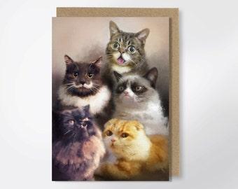 Cats On The Internet - Greeting Card - Funny Greeting Card - Lil Bub - Grumpy Cat - Princess Monster Truck - Cat Meme
