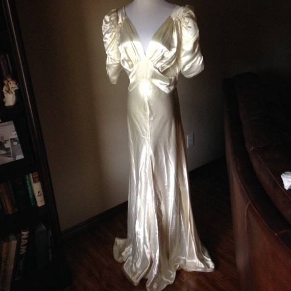 Slinky Sexy 1930s Silk Satin Wedding Gown By Sdbees1030 On