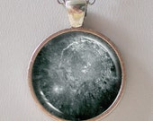 Moon Necklace -Crater Copernicus on the Moon- Astronomy Jewelry - Galaxy Series