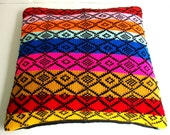 Pillow Cover Knitted Ethnic Pattern tribal Style